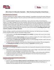Ohio's New K–12 Education Standards - Chardon Local Schools