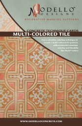colors -colored tile pattern Dye StainTM with a ... - Modello Designs