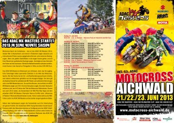 Flyer - Motocross Aichwald