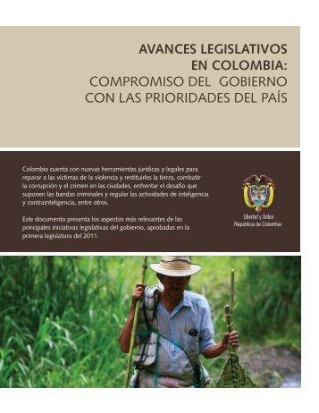 AVANCES LEGISLATIVOS EN COLOMBIA: COMPROMISO DEL ...