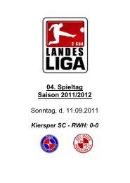 04. Spieltag Saison 2011/2012 Sonntag, d. 11.09.2011