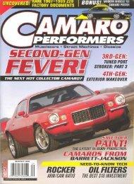 Camaro Performers - May 2008 - Vintage Wheel Works