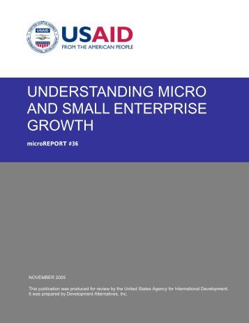 understanding micro and small enterprise growth - Microlinks