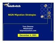 NGN Migration Strategies - Recursos VoIP