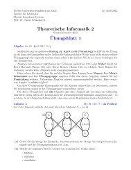 Übungsblatt 1 - Theorie komplexer Systeme - Goethe-Universität