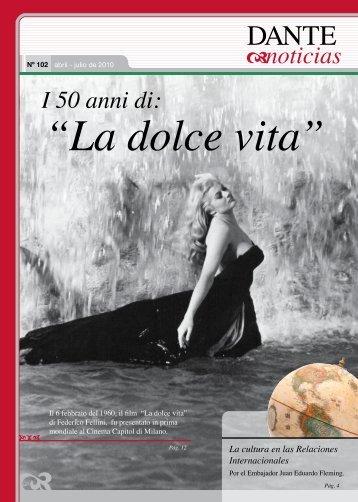 """I 50 anni di """"La dolce vita"""" - Asociación Dante Alighieri"""