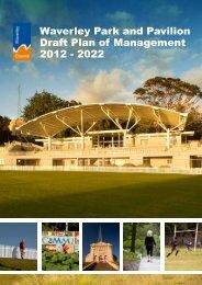 Waverley Park and Pavilion Draft Plan of Management 2012 ... - Land