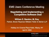 Licensee - EMS Users Conference