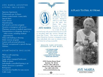 Ave Maria Home Brochure