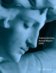 Trauma Services Annual Report 2008 - St. Michael's Hospital