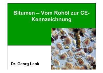 Bitumen – Vom Rohöl zur CE- Kennzeichnung - Gestrata
