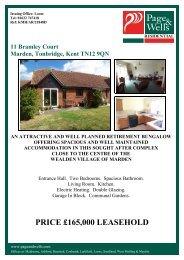 11 Bramley Court Marden, Tonbridge, Kent TN12 9QN AN ... - Vebra