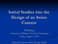 Initial Studies into the Design of an Axion Cannon - University of ...