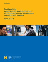 Benchmarking organizational leading indicators for the prevention ...