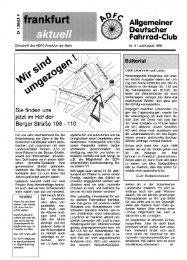 Frankfurt aktuell - Ausgabe 4 (Juli/August) / 1995 - ADFC Frankfurt