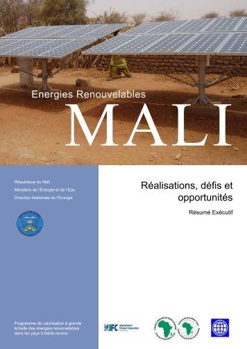 Mali - Energies renouvelables - Réalisations, défis et opportunités