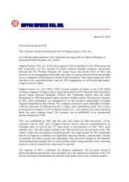 Kenryo Senda, President and CEO of Nippon Express USA, Inc ...