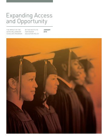 Expanding Access and Opportunity - Institute for Higher Education ...