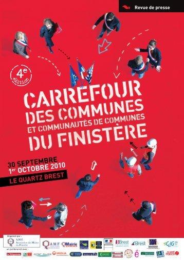 30 SEPTEMBRE 1er OCTOBRE 2010 - Association des Maires du ...