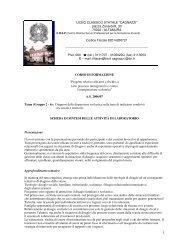 Relazione prof.ssa Maria Francesca Tirelli - Liceo Statale Cagnazzi
