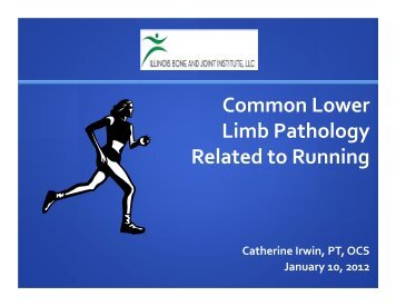 Common Lower Limb Pathology Related to Running