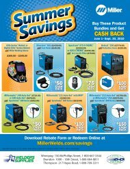 to check out our Summer Savings promotion on ... - Welders Supplies