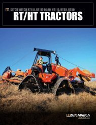 RT/hT TRacToRs - Ditch Witch