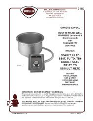 Built-in round well warmers with thermostat control - MyChefStore.com
