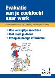 Evaluatie van je zoektocht naar werk : procedure ... - Aclvb