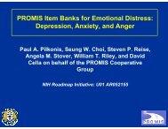 Symposium 29 - Item Banks for Measuring Emotional Distress