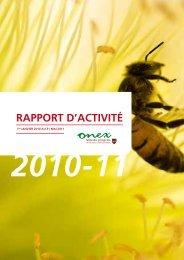 Rapport d'activité 2011 (PDF - 7.39 Mo) - Onex