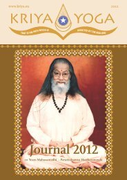 Journal 2012 Journal 2012 - Kriya Yoga Institute