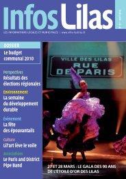 DOSSIER Le budget communal 2010 Résultats des ... - Les Lilas