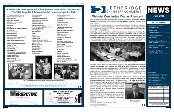 July 2008 - Lethbridge Chamber of Commerce