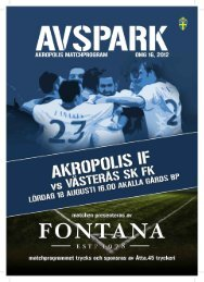 AV SPARK - Akropolis IF