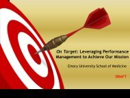 Performance Management - Emory University School of Medicine