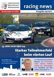 racing news - VLN Langstreckenmeisterschaft Nürburgring