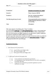 – Solutions at the end of the paper! – Matr. N°. Name: Examination ...