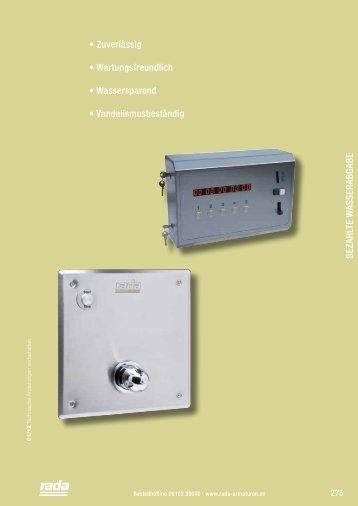 Bezahlte Wasserabgabe - Rada Armaturen GmbH