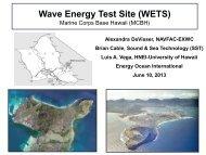 Wave Energy Test Site at Kaneohe Bay - Hawaii National Marine ...