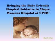 Bringing the Baby Friendly Hospital Initiative to Magee Womens ...