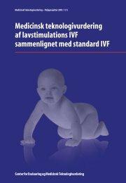 Medicinsk teknologivurdering af lavstimulations IVF sammenlignet ...