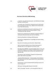Eine kurze Chronik der AWO Hamburg - AWO Landesverband ...