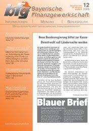 12 - bei der Bayerischen Finanzgewerkschaft