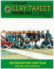 1993 MACKINTOSH OPEN TEAM - Australian Clay Target Association