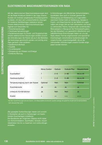 Elektron. Steuerungen - Rada Armaturen GmbH