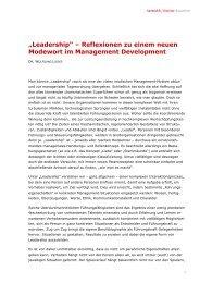 Leadership - Hantschk, Klocker & Partner