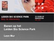 Banen op het Leiden Bio Science Park