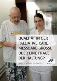 Programm Jahrestagung 2012 palliative zh+sh