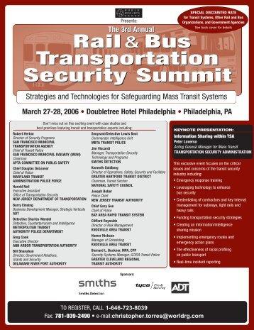 Transportation Security Summit Transportation Security Summit - ITS ...